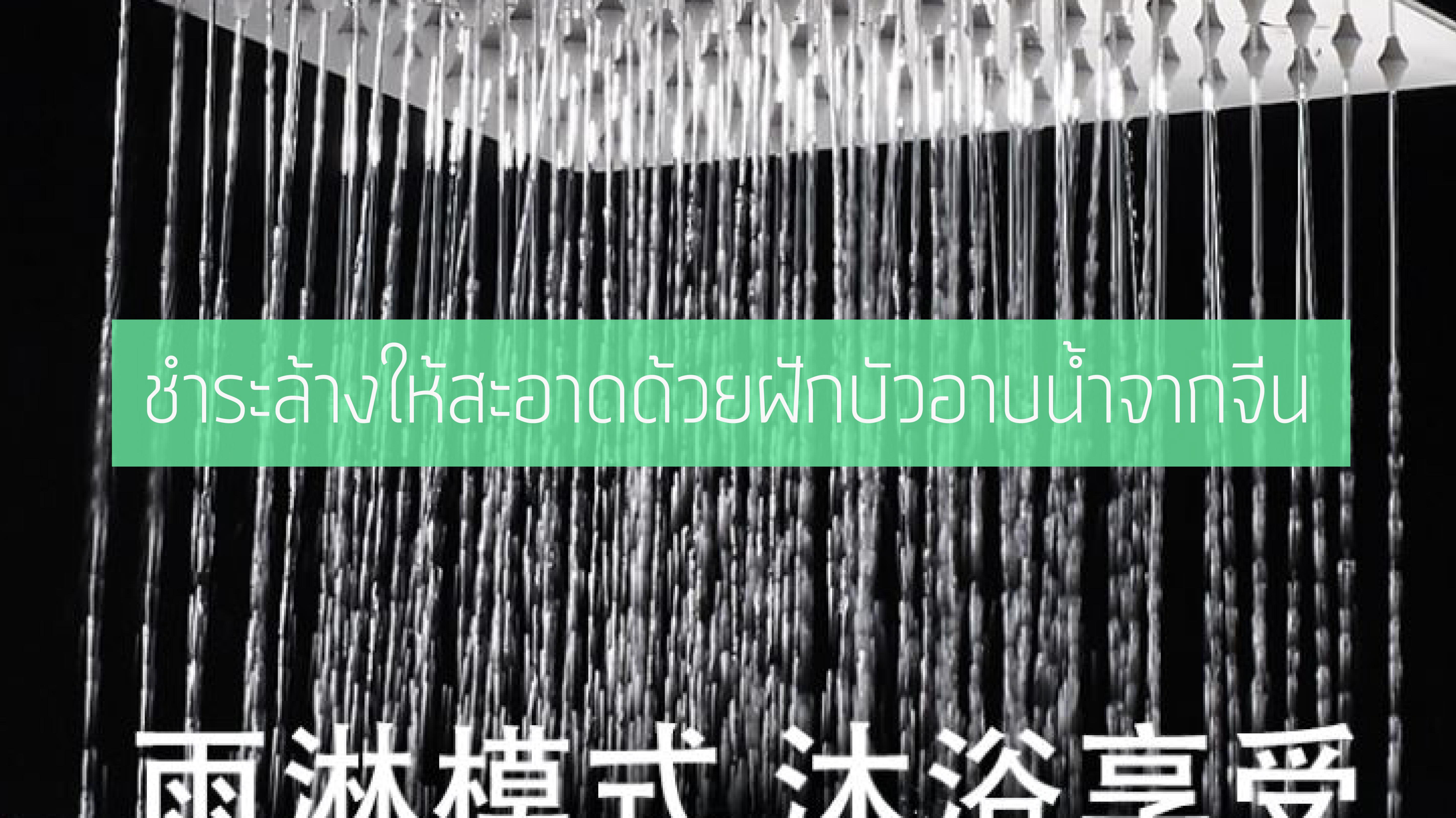 สินค้าพรีออเดอร์ ชำระล้างให้สะอาดด้วยฝักบัวอาบน้ำจากจีน
